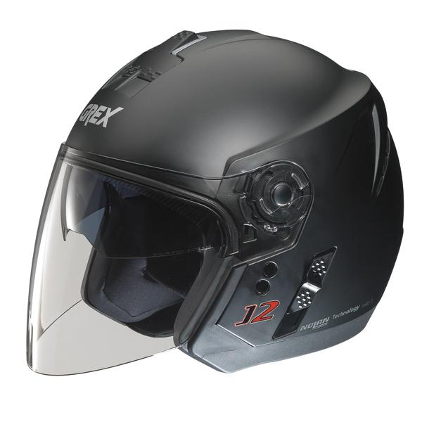 Casco moto jet Grex J2 Kinetic nero opaco