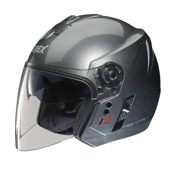 Casco moto jet Grex J2 Kinetic grigio metal