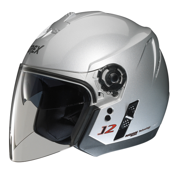 Grex J2 Kinetic jet helmet Metal Silver