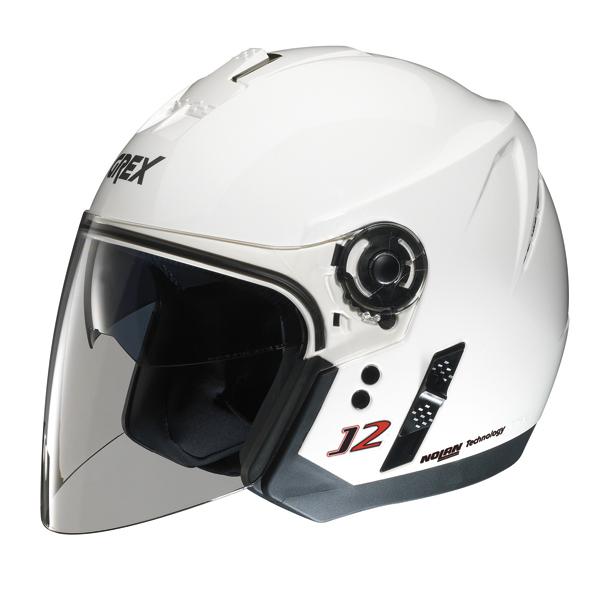 Grex J2 Kinetic jet helmet Metal White