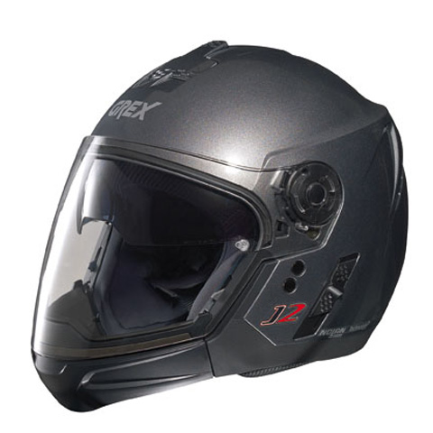 Casco moto Grex J2 PRO Kinetic grigio metal ment. staccabile