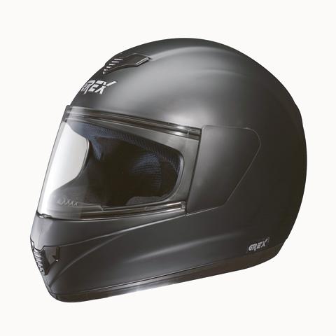 Casco moto integrale Grex R1 Club nero opaco