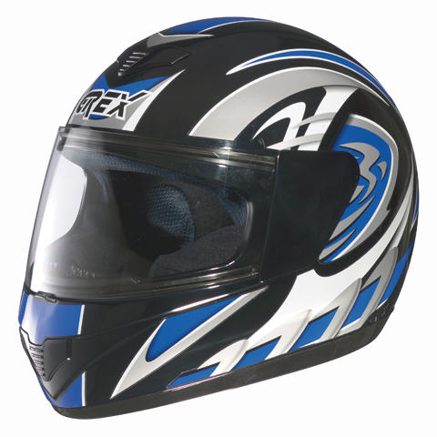 Casco moto integrale Grex R1 Decor Blu