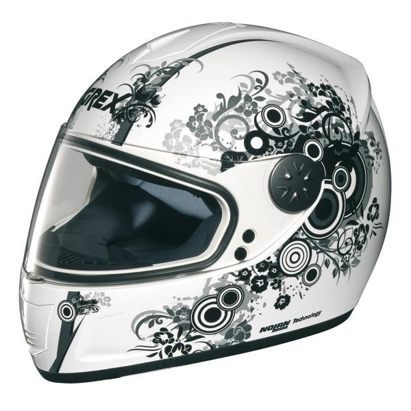 Grex R2 Bubbles full face helmet Metal White