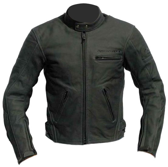 Giudici GT2 black leather motorcycle jacket