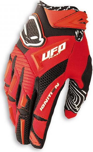 Ufo Plast Ignition enduro gloves red
