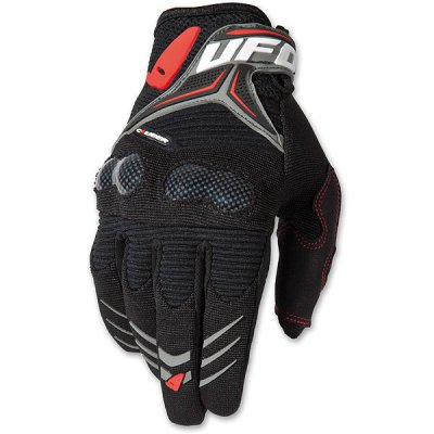 Gloves cross UFO MX Carbon Gloves Black