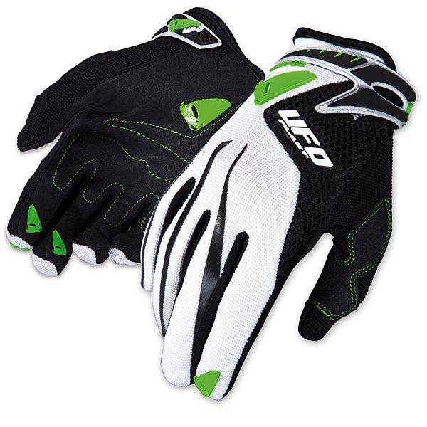 Ufo Plast Iconic cross kid gloves Green White Black