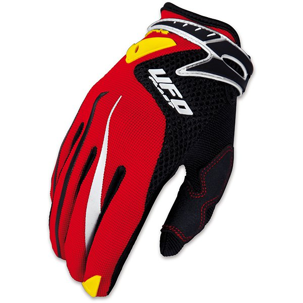Ufo Plast Iconic cross kid gloves Red Black