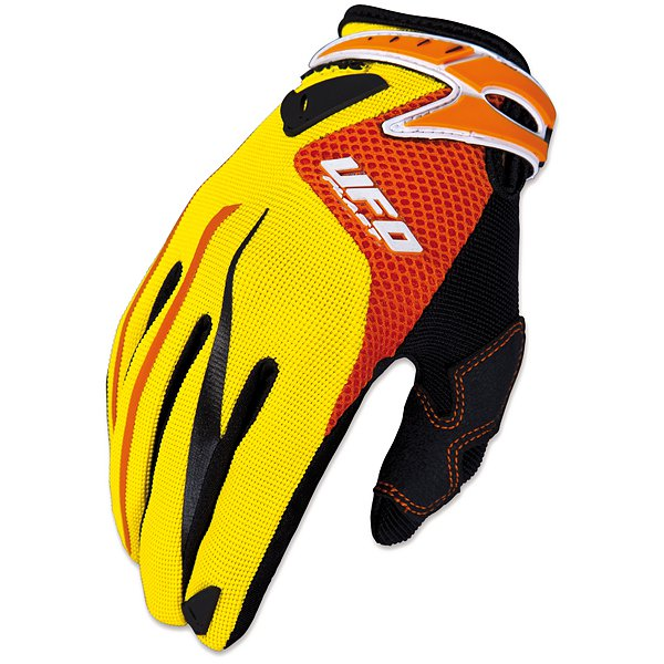 Ufo Plast Iconic cross kid gloves Yellow Red