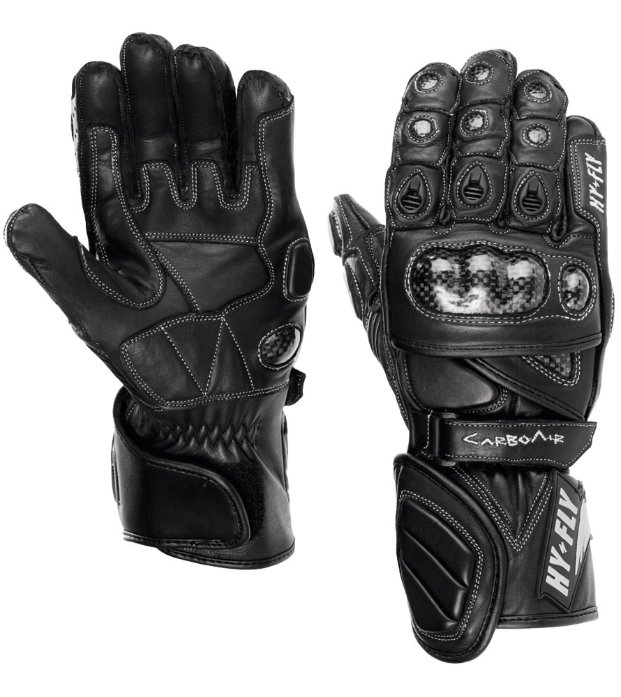 Motorcycle Racing Gloves Carbo Air Hy Fly Color Black