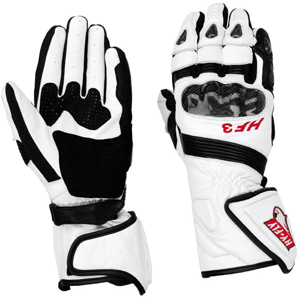 Hy Fly HF3 leather gloves White