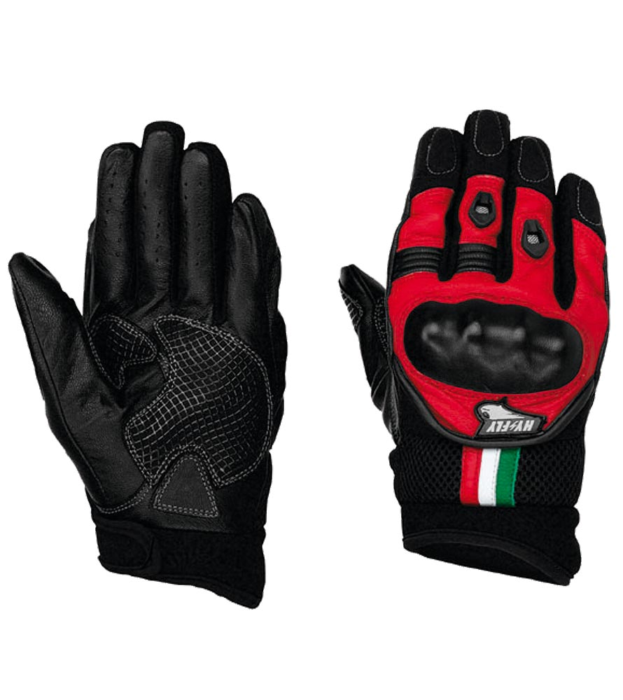Summer Motorcycle Gloves Matrix Hy Fly Red-Black