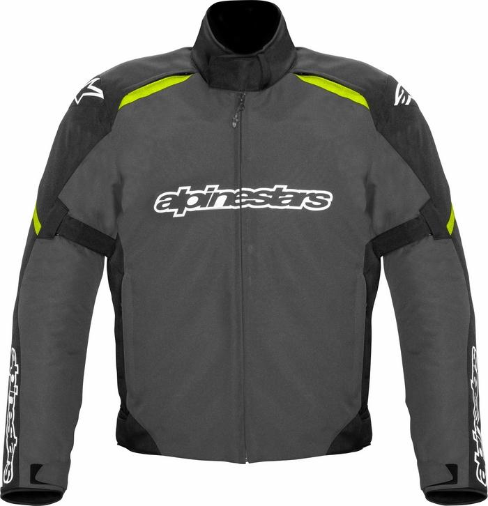 Giacca moto Alpinestars Gunner waterproof nero-grigio giallo flu