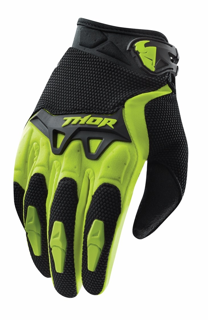 Thor Youth Spectrum gloves green