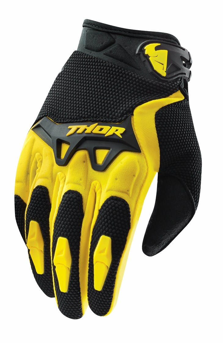 Thor Youth Spectrum gloves yellow