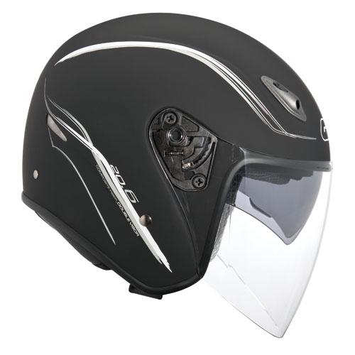 Jet Helmet Givi 20.6 Fiber-J2 Matte Black
