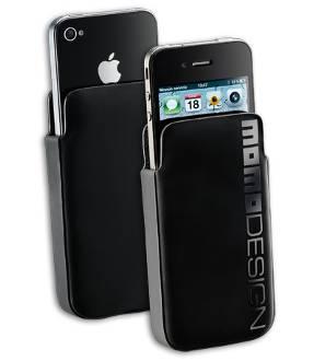 Momo Design Hard Sleeve Black for  Iphone 4