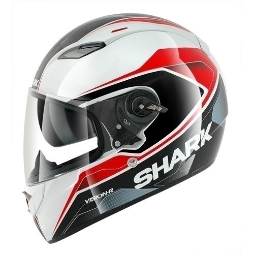 Casco Moto Shark Vision-R Syntic Bianco Nero Rosso