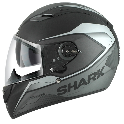 Shark Helmet Vision-R Syntic Mat Black Silver Anthracite
