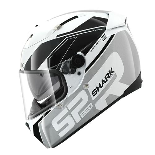 Shark Helmet Speed-R Sauer White Silver Black