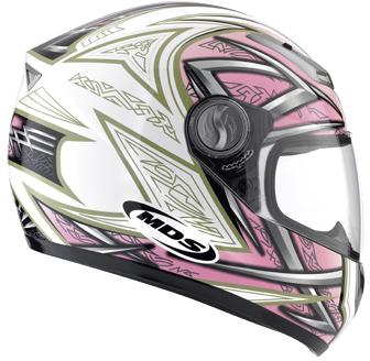 MDS by AGV Sprinter Multi Heritage FF Helmet - Col. White/Pink
