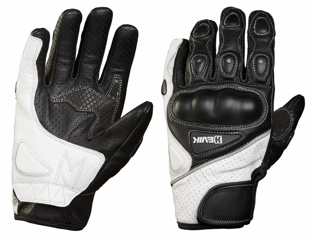 Leather motorcycle gloves summer Hevik Phoenix protections