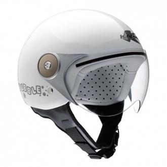 Demijet helmet kappa J01 BUBBLE junior white