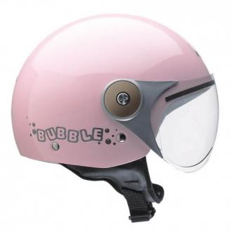 Demijet helmet kappa J01 BUBBLE junior pink