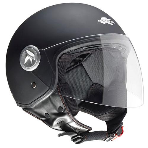 Kappa KV20 Rio long visor jet helmet matt Black