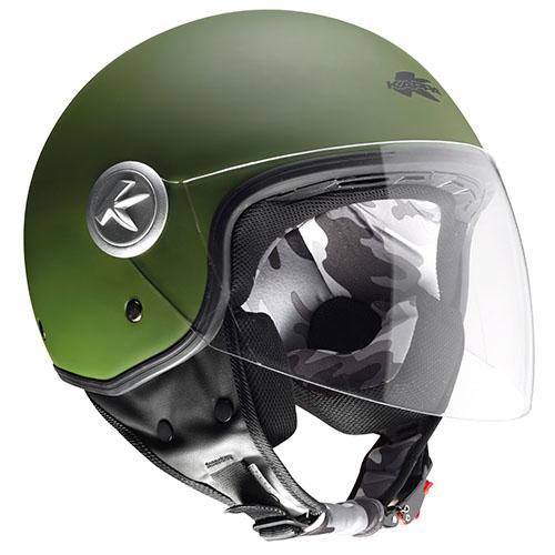 Kappa KV20 Rio long visor jet helmet military Green