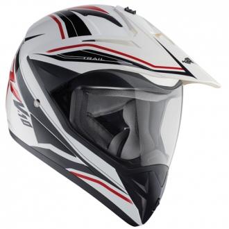 Cross helmet Kappa KV10 White Red Trail