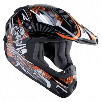 Cross helmet Kappa KV11 Skull Orange
