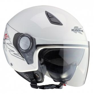 Jet helmet with double visor Kappa KV15 White