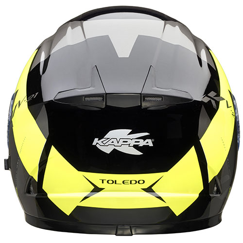 Kappa KV21 Toledo full face helmet Black Yellow