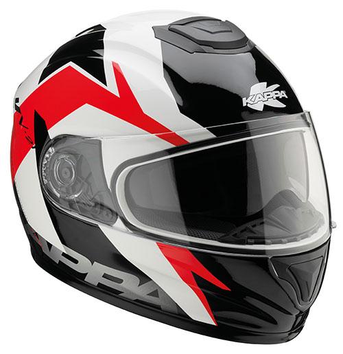 Kappa KV21 Toledo full face helmet White Red