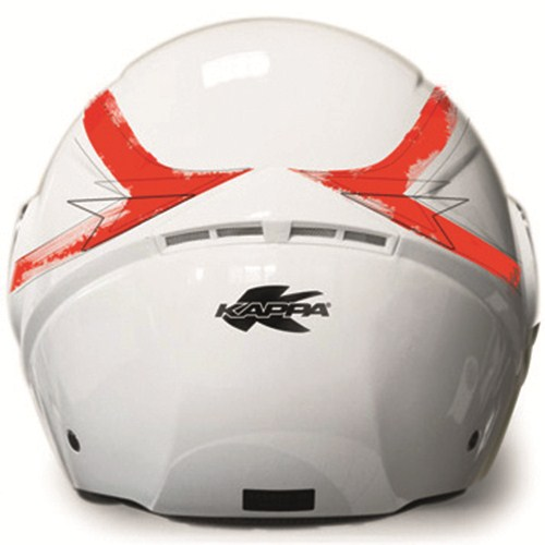 Kappa KV22 Florida jet helmet White Red