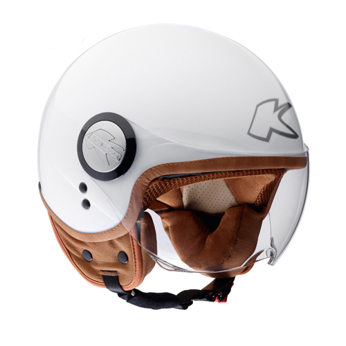 Kappa Demijet helmet gloss white KV8