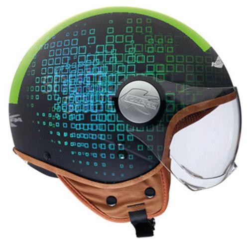 Kappa KV8 City Square jet helmet Black Green