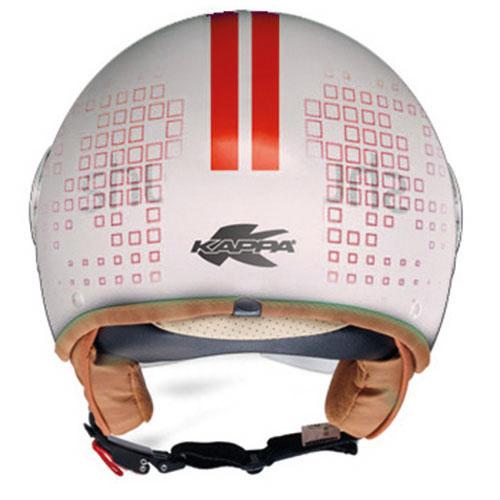 Kappa KV8 City Square jet helmet White Red