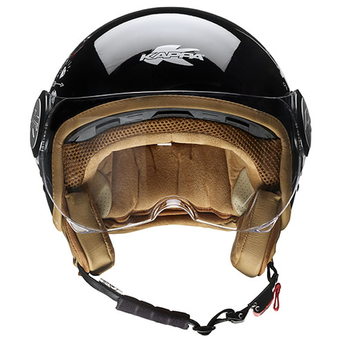 Kappa KV8 City Tattoo jet helmet Black White