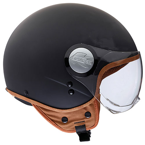 Kappa KV8 new look jet helmet matte Black