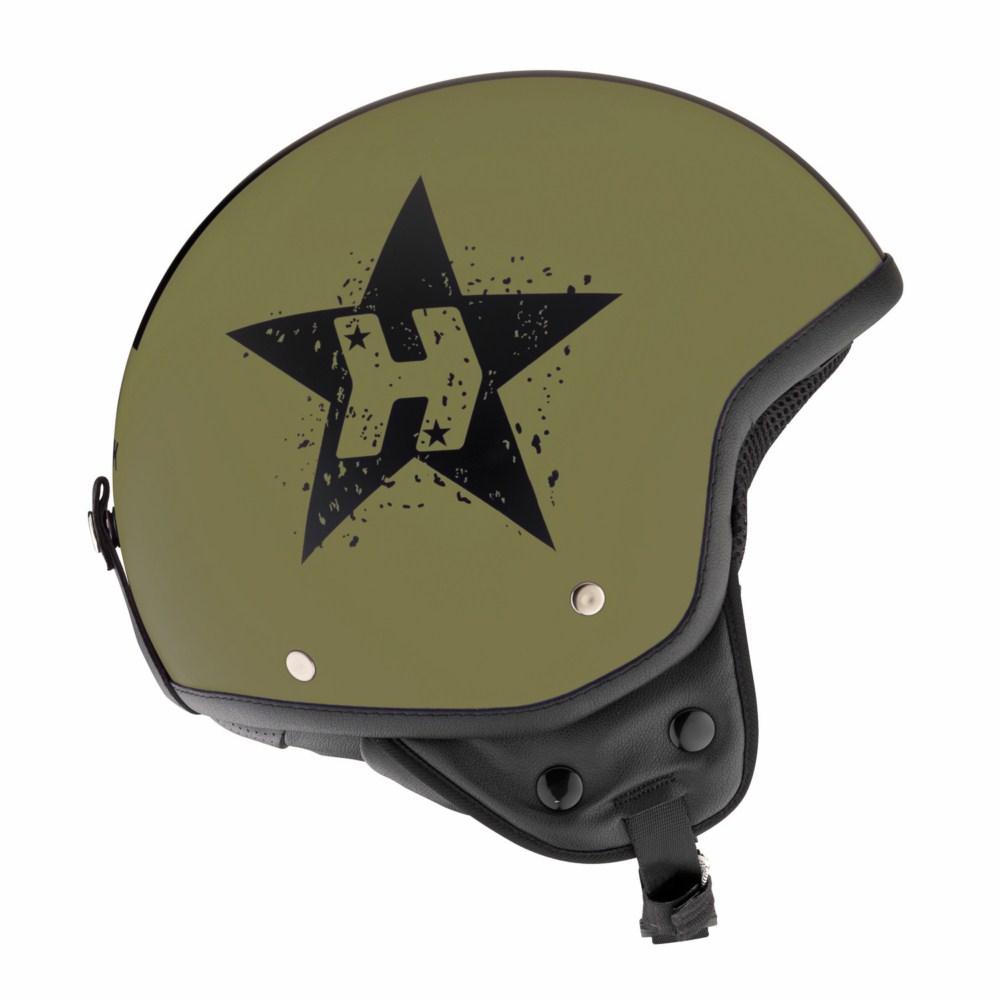 Casco jet Hevik HV9 GREEN STAR