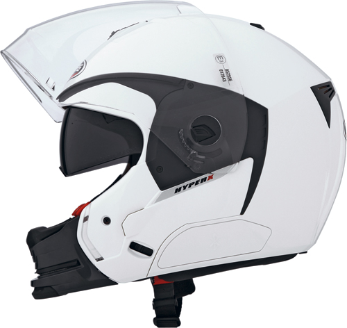 Casco moto Caberg Hyper-X  bianco-mentoniera staccabile