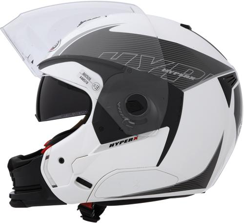 CABERG Hyper-X Mod full-face helmet col. white-anthracite