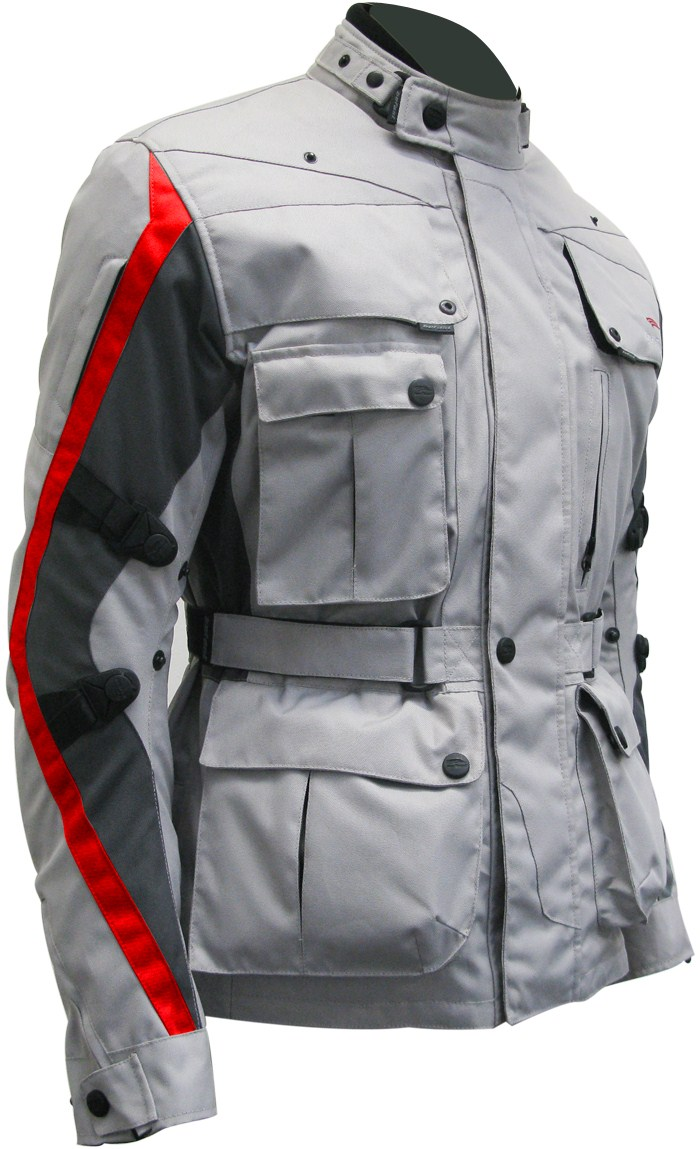 Four Climath Befast motorcycle jacket 4 easons Grey Red