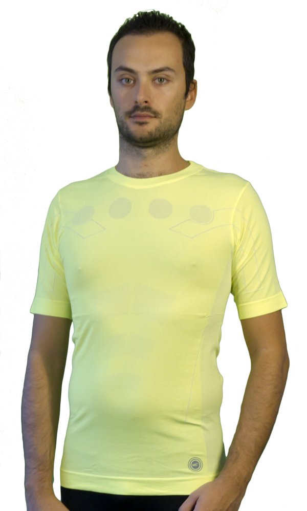 Short sleeve jersey Mico Skins MC2 Tech Yellow fluo