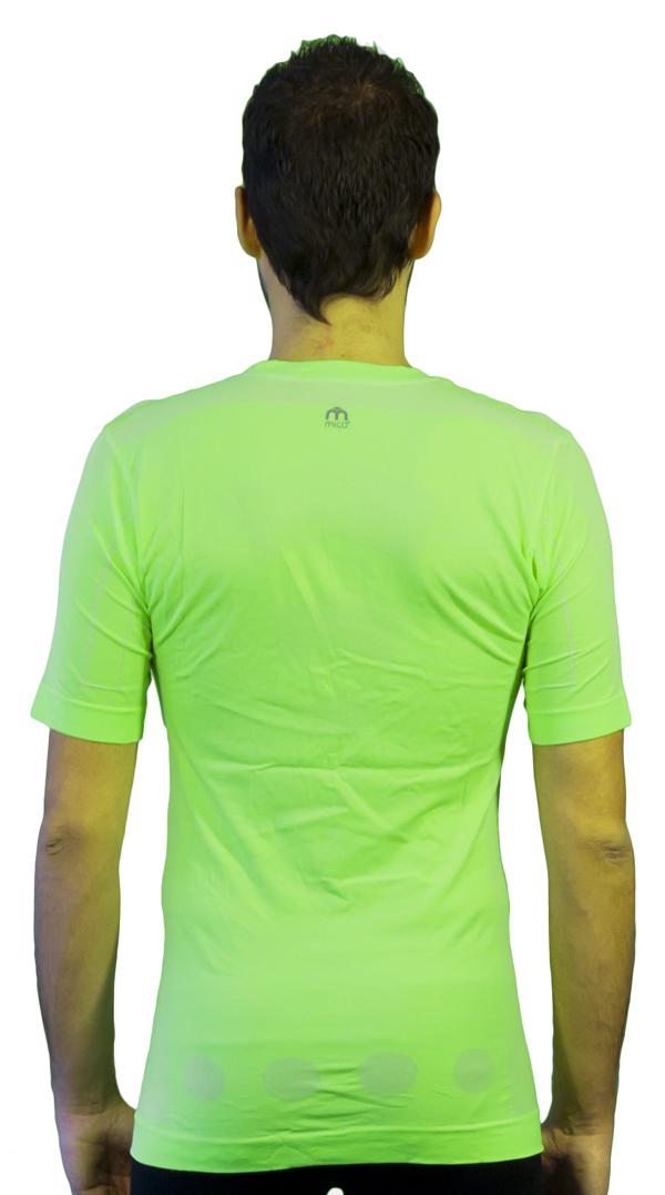 Short sleeve jersey Mico Skin Tech MC2 Green fluorescent