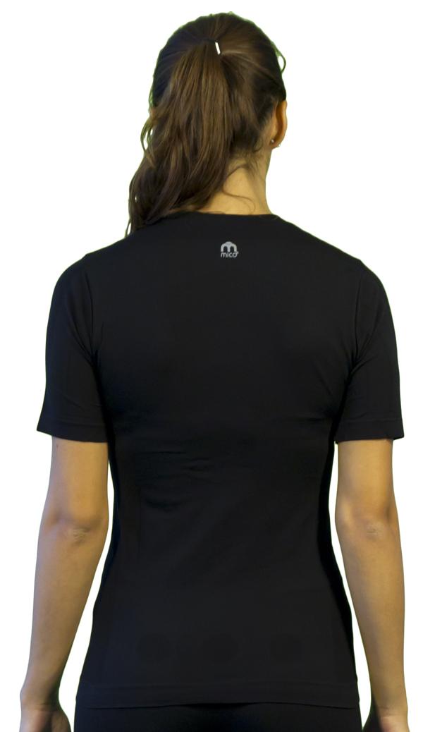 Short-sleeved Women Mico Tech MC2 Black Skin
