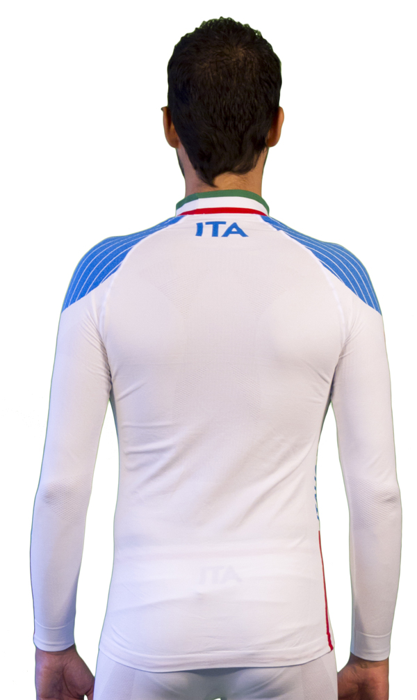 Mock Long Sleeve Mico Official Champion White Fisi